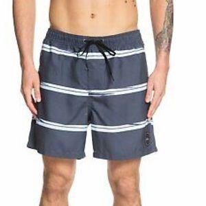 Quiksilver men's dunes stripe volley swim shorts